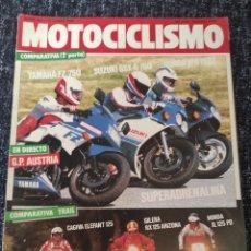 Coches y Motocicletas: MOTOCICLISMO Nº 957 JUNIO 1986. YAMAHA FZ 750, HONDA VFR, SUZUKI GSX-R, CAGIVA, GILERA, HONDA XL 125. Lote 278624878