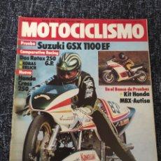 Coches y Motocicletas: MOTOCICLISMO Nº 840 AÑO 1984 EHRLICH 250 SUZUKI 1100 EF KIT AUTISA HONDA HURRICANE HONDA CR 250 R. Lote 278625368