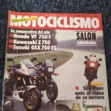 Coches y Motocicletas: MOTOCICLISMO Nº 799 AÑO 1983. COMPARATIVA: HONDA VF 750 F, KAWASAKI Z 750 Y SUZUKI GSX 750 E. Lote 279460333