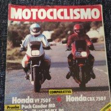 Coches y Motocicletas: MOTOCICLISMO Nº 841 AÑO 1984. PRU: POCH CONDOR MD. COMP: HONDA VF 750 F Y HONDA CBX 750 F.. Lote 279460663