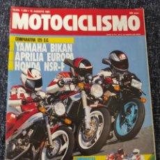 Coches y Motocicletas: MOTOCICLISMO Nº 1225 AÑO 1991 BIMOTA TESI 1D DUCATI 851 SP III HONDA NSR 125 F. Lote 279461163