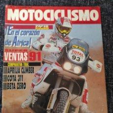 Coches y Motocicletas: MOTOCICLISMO Nº 1246 - ENERO 1992 - MONTESA COTA 311 / APRILIA CLIMBER / BETA ZERO / PARIS EL CABO. Lote 279461833