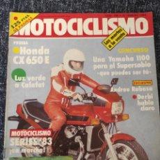 Coches y Motocicletas: MOTOCICLISMO Nº 788 - FEB 1983 - HONDA CX 650 E / ANTONIO COBAS / ANDREU RABASA. Lote 279461983