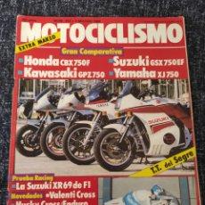 Coches y Motocicletas: MOTOCICLISMO Nº 842 AÑO 1984. COMPARATIVA: HONDA CBX 750 F, YAMAHA XJ 750, KAWASAKI GPZ 750. Lote 279462613
