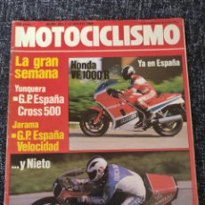 Coches y Motocicletas: MOTOCICLISMO Nº 851 AÑO 1984. PRESENTACIÓN: MONTESA ENDURO 360 H7. PRUEBA: HONDA VF 1000 R.. Lote 279463453