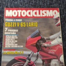 Coches y Motocicletas: MOTOCICLISMO Nº 899 AÑO 1985 GUZZI LARIO 650 GILERA ARIZONA RX 200 DERBI 125 TT Y 250 TT. Lote 279463098
