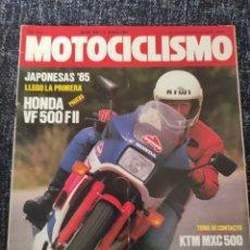 Coches y Motocicletas: MOTOCICLISMO Nº 905 JUNIO 1985 ,HONDA VF 500 F 2 ,KTM MXC 500 ,MORINI . LAVERDA. Lote 279463273