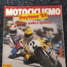 Coches y Motocicletas: MOTOCICLISMO Nº 845, 24 MARZO 1984, DAYTONA, HONDA CBR,. Lote 279463883