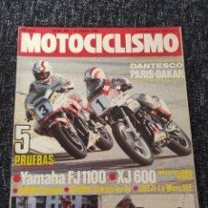 Coches y Motocicletas: MOTOCICLISMO Nº 886 AÑO 1985. PRUEBA: YAMAHA FJ 1100. PRUEVA: YAMAHA XJ 600. PRUEBA: GUZZI L. Lote 279464003