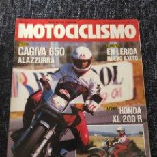 Coches y Motocicletas: MOTOCICLISMO Nº 907 AÑO 1985. PRUEBA: CAGIVA ALAZZURRA 650. HONDA XL 200.. Lote 279464453