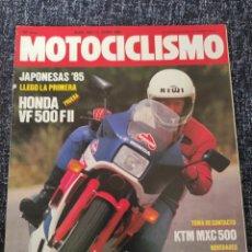 Coches y Motocicletas: MOTOCICLISMO Nº 905 AÑO 1985. PRUEBA: HONDA VF 500 II. PRUEBA. KTM MXC 500.. Lote 279464538