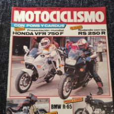 Coches y Motocicletas: MOTOCICLISMO Nº 942 - FEB 1986 - BMW R 65 / GUZZI V 75 / HONDA VFR 750 F. Lote 279464688