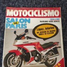 Coches y Motocicletas: MOTOCICLISMO Nº 923 - OCT 1985 - SUZUKI GSX 400 E / YAMAHA AR 125 / SALON PARIS / ENDURO 6 DIAS. Lote 279464993