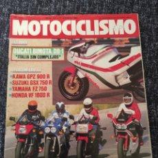 Coches y Motocicletas: MOTOCICLISMO Nº 917 AÑO 1985. PRUEBA: DUCATI BIMOTA DB 1. COMPARATIVA: KAWASAKI GPZ 900 R, S. Lote 279465058