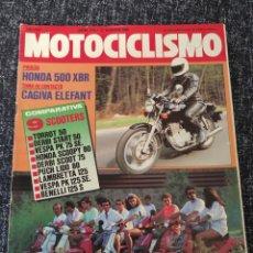 Coches y Motocicletas: MOTOCICLISMO Nº 915 - AGOS 1985 - HONDA 500 XBR / CAGIVA ELEFANT / GP SUECIA / TORROT 50. Lote 279465243