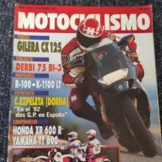Coches y Motocicletas: MOTOCICLISMO Nº 1234 AÑO 1991.PRU: GILERA CX. DERBI BI-3.MINI HONDA GABI.COMP: HONDA XR 600.. Lote 279465418