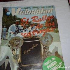 Coches y Motocicletas: REVISTA GRAFICA DEL MOTOR VELOCIDAD Nº 1081 29 DE MAYO DE 1982.PANDA MARBELLA. Lote 283210023