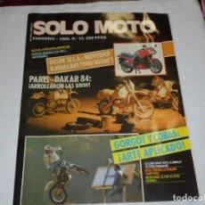 Coches y Motocicletas: REVISTA MENSUAL SOLO MOTO TREINTA FEBRERO 1984 Nº 13. Lote 283210753