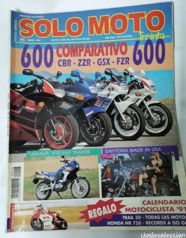 REVISTA SÓLO MOTO ABRIL 1991 (Coches y Motocicletas - Revistas de Motos y Motocicletas)