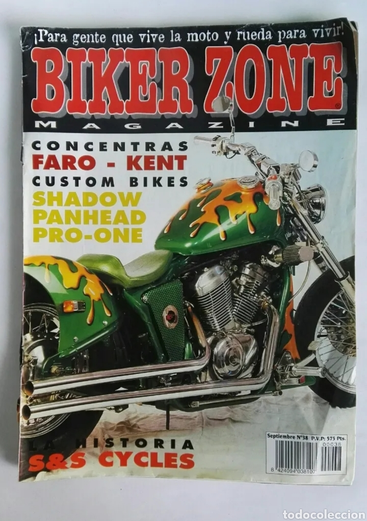 BIKER ZONE MAGAZINE REVISTA MOTOS HARLEY (Coches y Motocicletas - Revistas de Motos y Motocicletas)