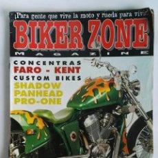 Coches y Motocicletas: BIKER ZONE MAGAZINE REVISTA MOTOS HARLEY. Lote 287614228