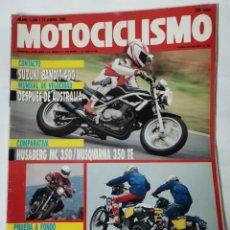 Coches y Motocicletas: REVISTA MOTOCICLISMO ABRIL 1991. Lote 287614548