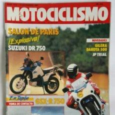 Coches y Motocicletas: REVISTA MOTOCICLISMO N 1030 NOVIEMBRE 1987 SUZUKI DR 750. Lote 287614668