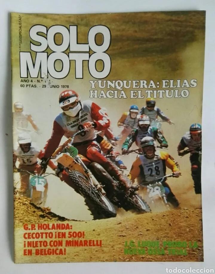 REVISTA SOLO MOTO JUNIO 1978 NIETO MINARELLI OSSA (Coches y Motocicletas - Revistas de Motos y Motocicletas)
