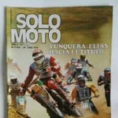 Coches y Motocicletas: REVISTA SOLO MOTO JUNIO 1978 NIETO MINARELLI OSSA. Lote 287614783