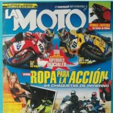 Coches y Motocicletas: REVISTA EL MENSUAL DEL MOTORISTA LA MOTO NOVIEMBRE 2003. Lote 287614923