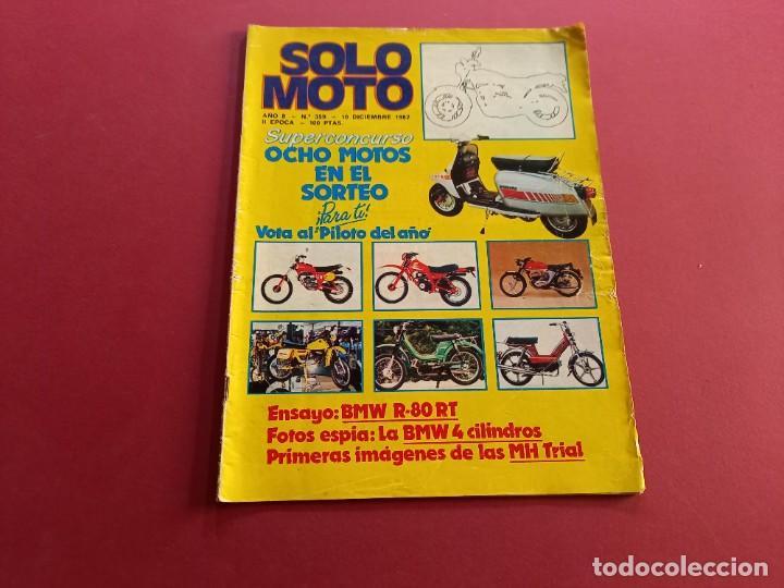 SOLO MOTO -Nº 359 AÑO 1982 (Coches y Motocicletas - Revistas de Motos y Motocicletas)