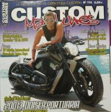 Coches y Motocicletas: REVISTA CUSTOM MACHINES 174 TEMATICA CUSTOM Y HARLEY. Lote 289353503