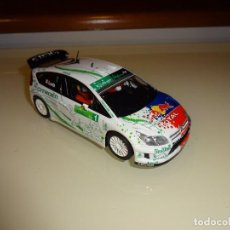 Scalextric: SCALEXTRIC.CITROEN C4 WRC. RED BULL. LOEB. Lote 98218635