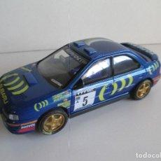 Scalextric: SUBARU WRC CARLOS SAINZ RALLY CATALUNYA RACC, EDICIÓN LIMITADA 3000 UNIDADES SCALEXTRIC, NUEVO. Lote 101189439