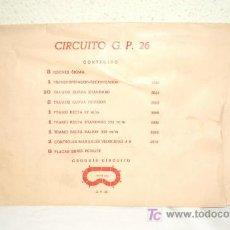 Scalextric: SOBRE DE COCHES SIGMA,SCALEXTRIC,CON DOCUMENTACIÓN ORIGINAL,AÑOS 70. Lote 27576670