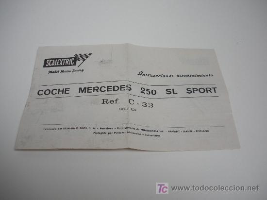 Scalextric: MERCEDES 250 SL SPORT EXIN - Foto 7 - 26449475