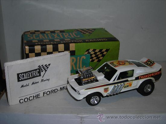 (M) FORD MUSTANG DRAGSTER BLANCO, SCALEXTRIC REF 4049, CON CAJA , (Juguetes - Slot Cars - Scalextric Exin)