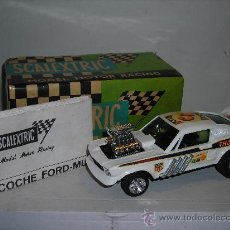 Scalextric: (M) FORD MUSTANG DRAGSTER BLANCO, SCALEXTRIC REF 4049, CON CAJA , . Lote 27370489