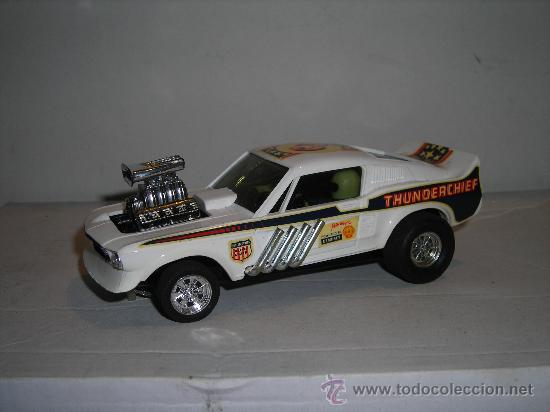 Scalextric: (M) FORD MUSTANG DRAGSTER BLANCO, SCALEXTRIC REF 4049, CON CAJA , - Foto 2 - 27370489