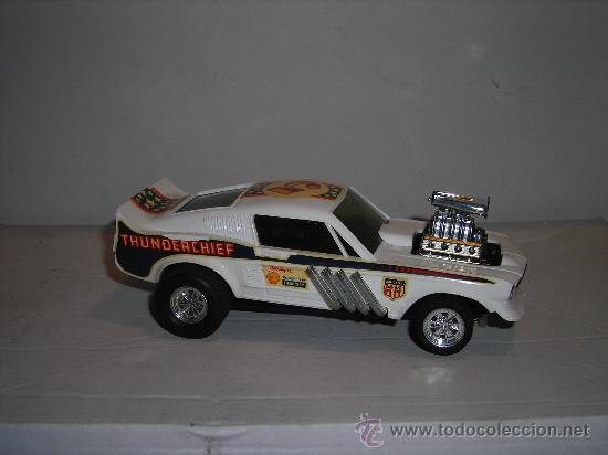 Scalextric: (M) FORD MUSTANG DRAGSTER BLANCO, SCALEXTRIC REF 4049, CON CAJA , - Foto 3 - 27370489