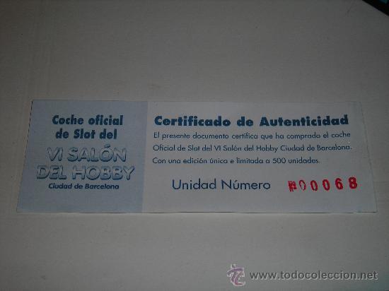 Scalextric: LANCIA DELTA INTEGRALE - COCHE OFICIAL DE SLOT DEL VI SALON DEL HOBBY CIUDAD DE BARCELONA - Foto 5 - 26430973