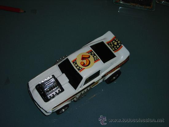Scalextric: (M) FORD MUSTANG DRAGSTER BLANCO, SCALEXTRIC REF 4049, CON CAJA , - Foto 5 - 27370489