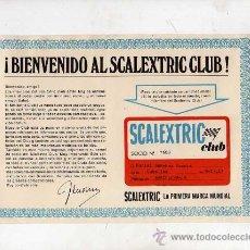 Scalextric: (M) CARNET SOCIO SCALEXTRIC CLUB , AÑOS 60 - 70 APROXIMADAMENTE, . Lote 24127469