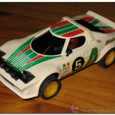 Scalextric: SCALEXTRIC LANCIA STRATOS EXIN - REF. 4055 1ª SERIE MOTOR ABIERTO. Lote 27204500