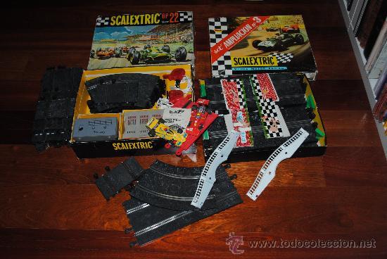 SCALEXTRIC EXIN GP 22 AÑO 1968 Y AMPLIACION Nº 3. TOTALMENTE DE EPOCA. MUY AMPLIADO (Juguetes - Slot Cars - Scalextric Exin)