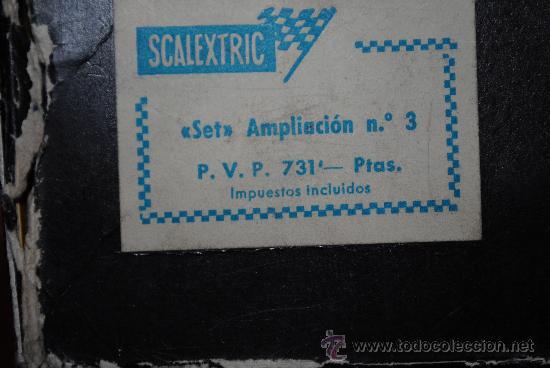 Scalextric: SCALEXTRIC EXIN GP 22 AÑO 1968 Y AMPLIACION Nº 3. TOTALMENTE DE EPOCA. MUY AMPLIADO - Foto 12 - 204619592
