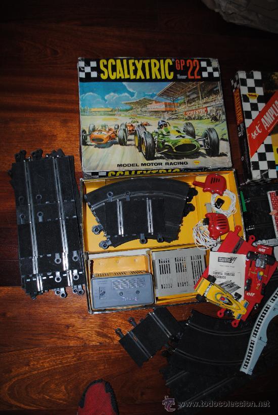 Scalextric: SCALEXTRIC EXIN GP 22 AÑO 1968 Y AMPLIACION Nº 3. TOTALMENTE DE EPOCA. MUY AMPLIADO - Foto 5 - 204619592