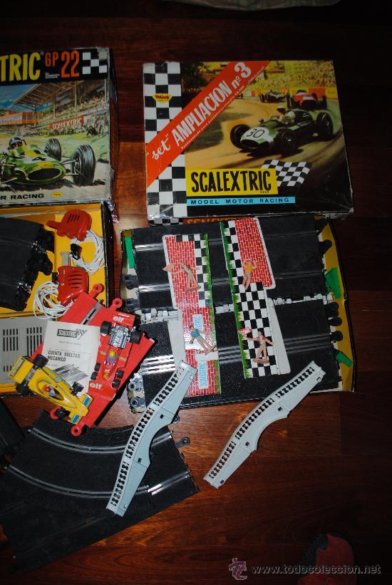 Scalextric: SCALEXTRIC EXIN GP 22 AÑO 1968 Y AMPLIACION Nº 3. TOTALMENTE DE EPOCA. MUY AMPLIADO - Foto 6 - 204619592