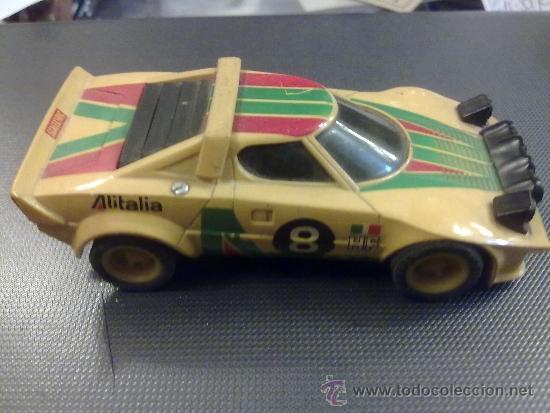 SCALEXTRIC LANCIA STRATOS AMARILLO ALITALIA REF 4055 (Juguetes - Slot Cars - Scalextric Exin)