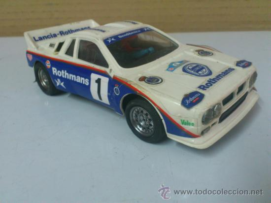 . COCHE SCALEXTRIC LANCIA ROTHMANS RALLY 037 .MADE IN SPAIN. FUNCIONA. (Juguetes - Slot Cars - Scalextric Exin)